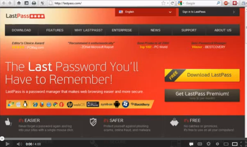 Productivity Strategy 1 – Using LastPass To Remember Your Passwords